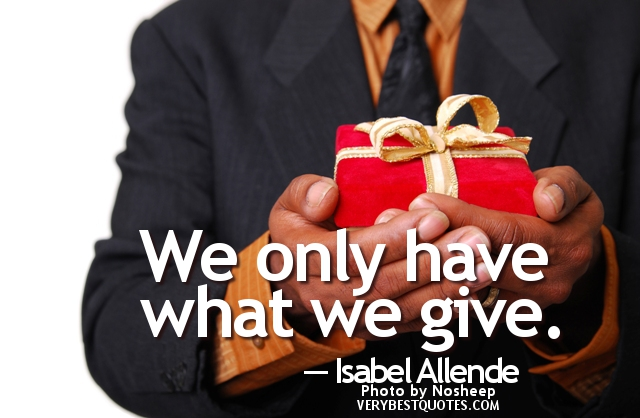 We Only Have What We Give