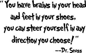 """ You Have Brains In Your Head And Feet In Your Shoes, You Can Steer Yourself In Any Direction You Choose "" - Dr. Seuss"