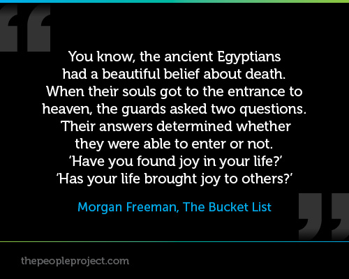 You Know The Ancient Egyptians Had A Beautiful Belief About Death. When Their Souls Got To The Entrance To Heaven… - Morgan Freeman