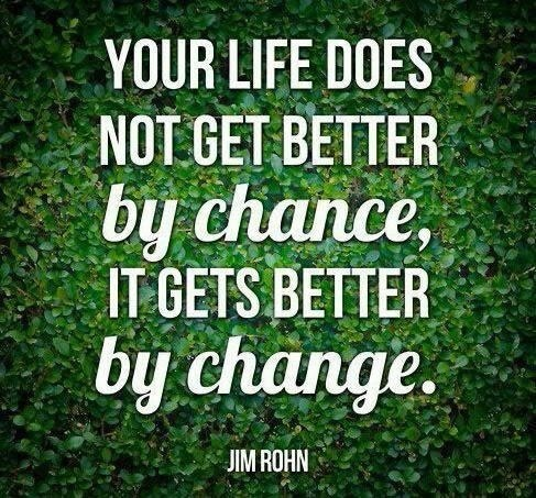 Your Life Does Not Get Better By Chance, It Gets Better By Chance