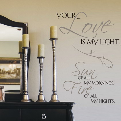 Your Love Is My Light, Sun Of All My Mornings, Fire Of All My Nights