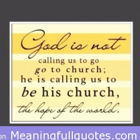Bible Quotes About Going to Church