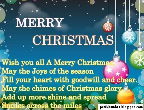 Merry Christmas, Wish You All A Merry Christmas. May The Joys Of The Season Fill Your Heart With Goodwill And Cheer….
