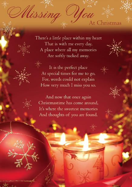 Missing You At Christmas…
