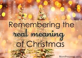 Remembering The Real Meaning Of Christmas.