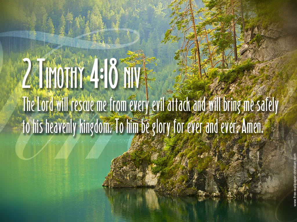 the lord will rescue me from every evil attack and will