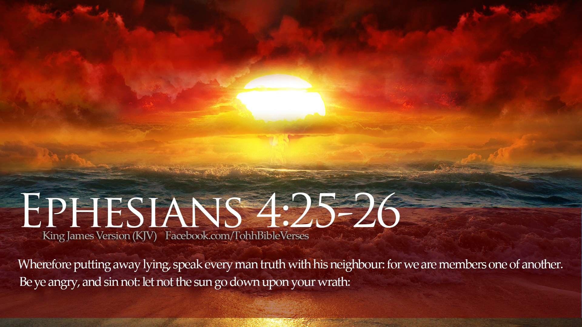 Wherefore Putting Away Lying, Speak Every Man Truth With His Neighbor For  We Are Members