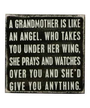 A Grandmother Is Like An Angel. Who Takes You Under Her Wing, She Prays And Watches Over You And She'd Give You Anything.
