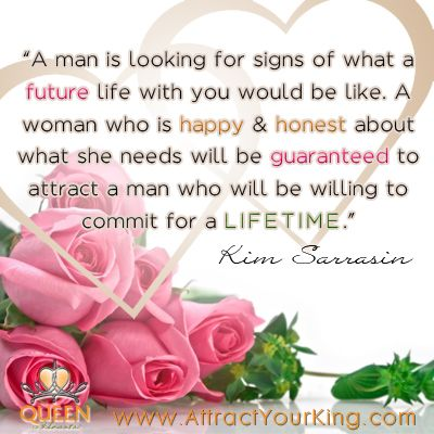""" A Man Is Looking For Signs Of What A Future Life You Would Be Like… ~ Commitment Quotes"