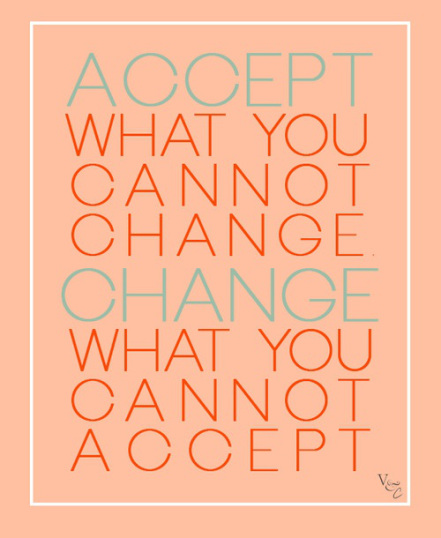 Accept What You Cannot Change. Change What You Cannot Accept.