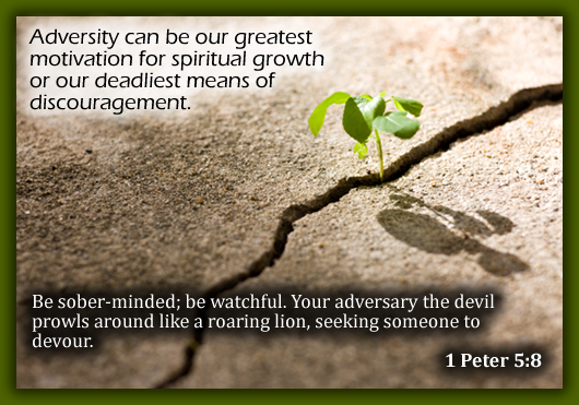 Adversity Can Be Our Greatest Motivation For Spiritual Growth Or Our Deadliest Means Of Discouragement.