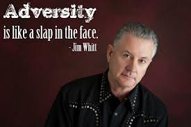 Adversity Is Like A Slap In The Face. - Jim Whitt