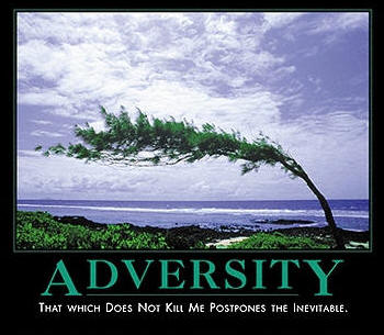 Adversity That Which Does Not Kill Me Postpones The Inevitable