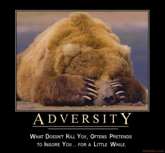 Adversity What Doesn't Kill You, Oftens Pretends To Ignore You, For A Little While