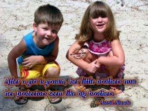 After A Girl Is Grown, Her Little Brothers And Her Protectors Seem Like Big Brother. - Astrid Alauda