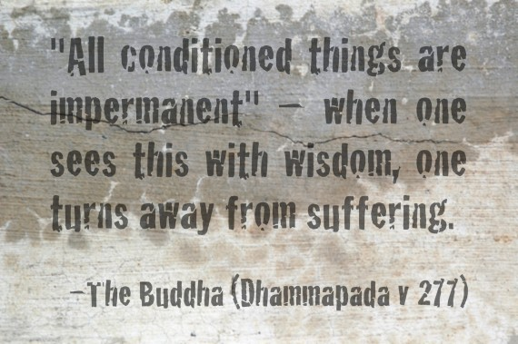 All Conditioned Things Are Impermanent, When One Sees This With Wisdom, One Turns Away From Suffering. - The Buddha