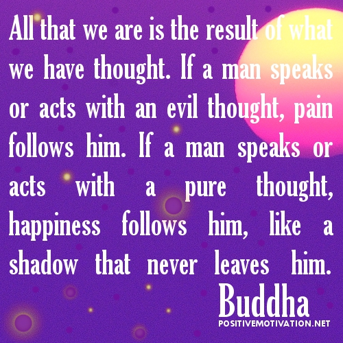 All That We Are Is The Result Of What We Have Thought. If A Man Speaks Or Acts With An Evil Thought, Pain Follows Him…. - Buddha
