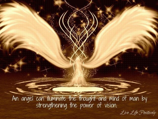 an angel can illuminate the thought and mind of man by