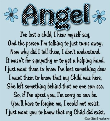 Angel, I've Lost A Child, I Hear Myself Say, And The Person. I'm Talking To Just Turns Away, Now Why Did I Tell Them, I Don't  Understand…