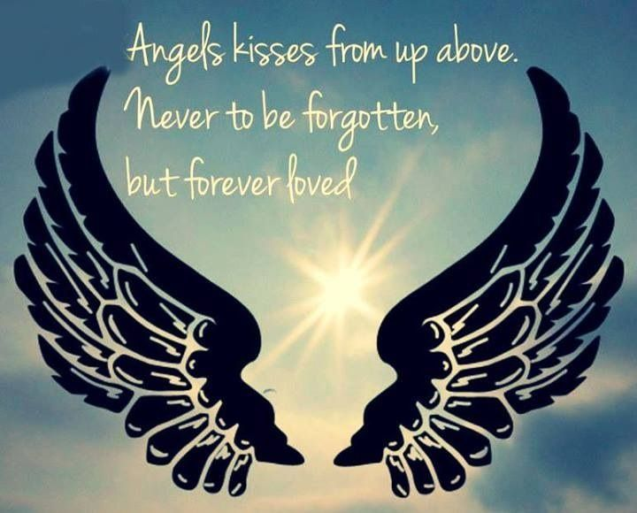 Angel Kisses From Up Above. Never To Be Forgotten, But Forever Loved.