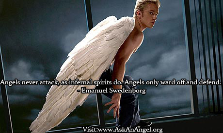 Angels Never Attack, As Infernal Spirits Do, Angels Only Ward Off And Defend.