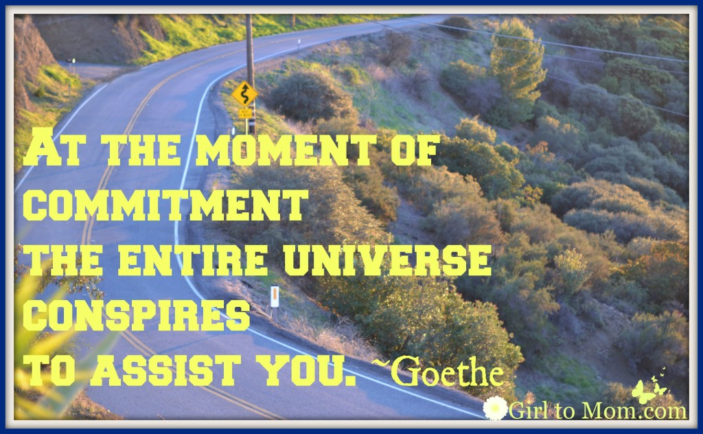 At The Moment Of Commitment The Entire Universe Conspires To Assist You. - Goethe