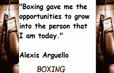 Boxing gave me the opportunities to grow into the person that i am