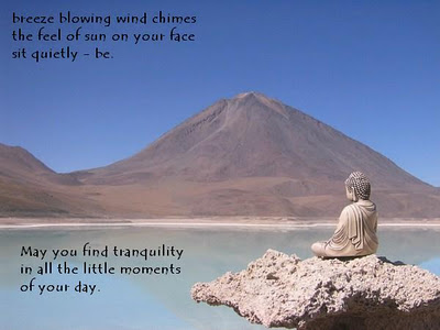 Breeze Blowing Wind Chimes The Feel Of Sun On Your Face All Quietly-Be. May You Find Tranquility In All The Little Moments Of Your Day. ~ Buddhist Quotes