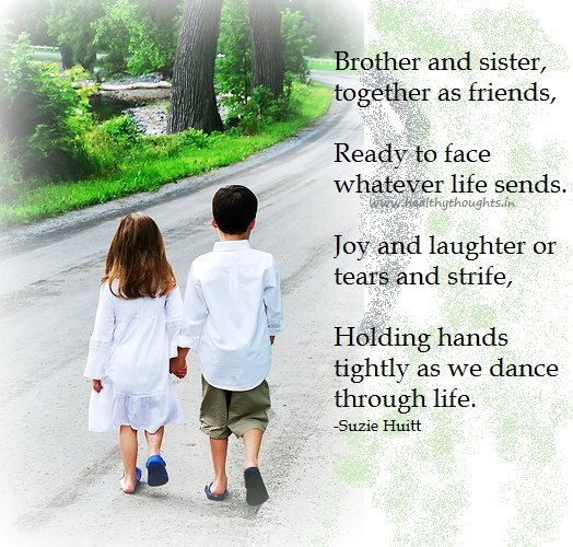 Brother And Sister, Together As Friends, Ready To Face Whatever Life Sends…. - Suzie Huitt
