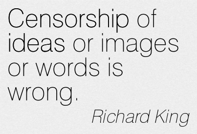 censorship is wrong