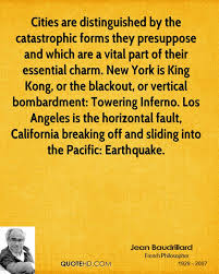 Cities Are Distinguished By The Catastrophic Forms They Presuppose And Which Are A Vital Part Of Their Essential Charm….