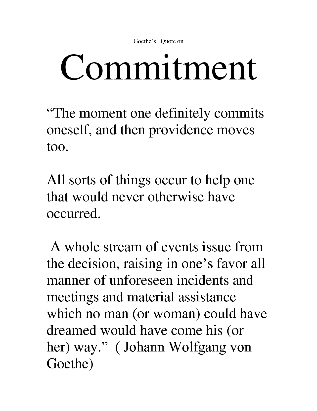 Commitment. - Quotespictures.com