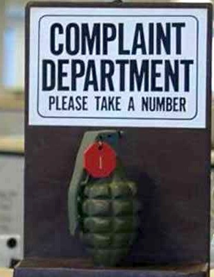 Complaint Department, Please Take A Number