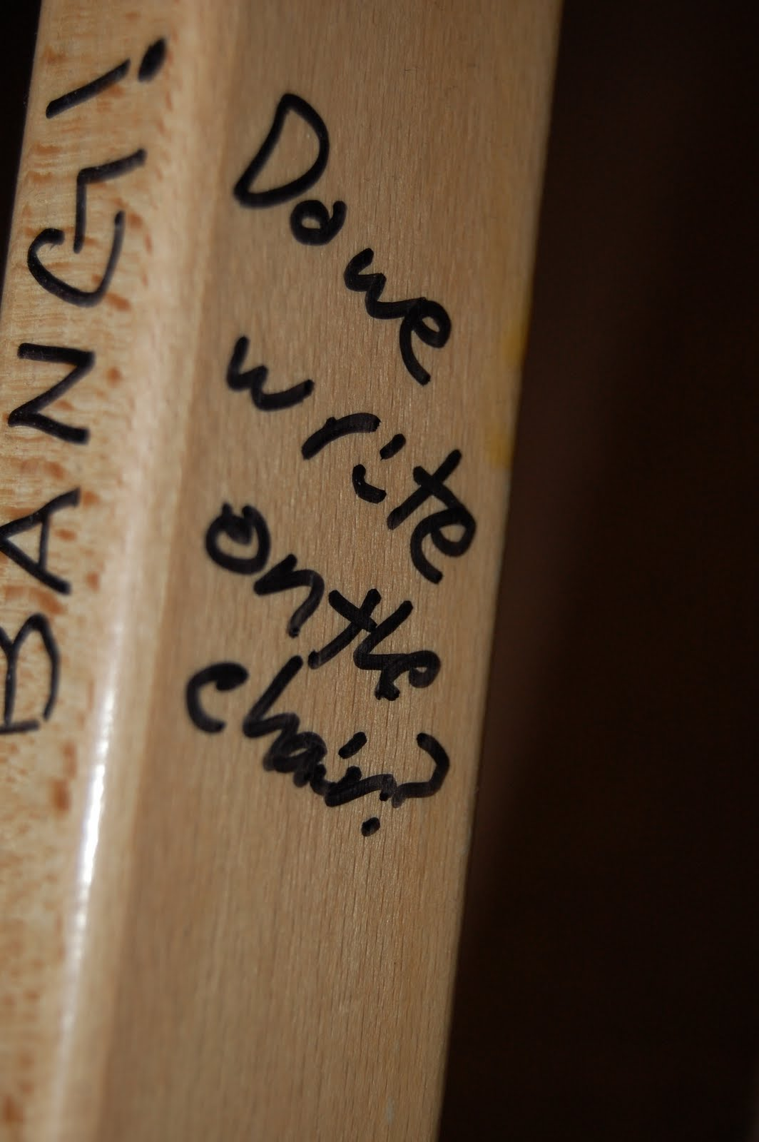 Do We Write On The Chair!