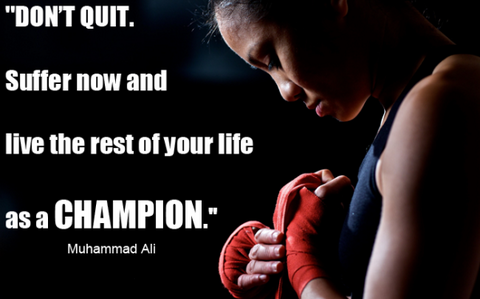 Rest of your life as a champion muhammad ali boxing quotes