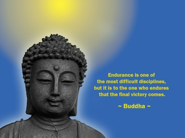 Endurance Is One Of The Most Difficult Disciplines, But It Is To The One Who Endures That The Final Victory Comes. - Buddha