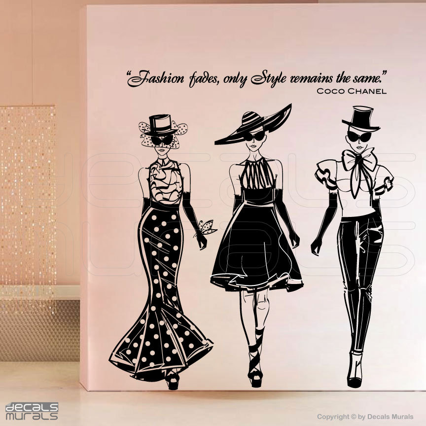 """ Fashion Fades, Only Style Remains The Same "" - Coco Chanel ~ Clothing Quotes"