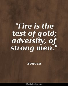 Fire Is The Test Of Gold Adversity Of Strong Men. - Seneca