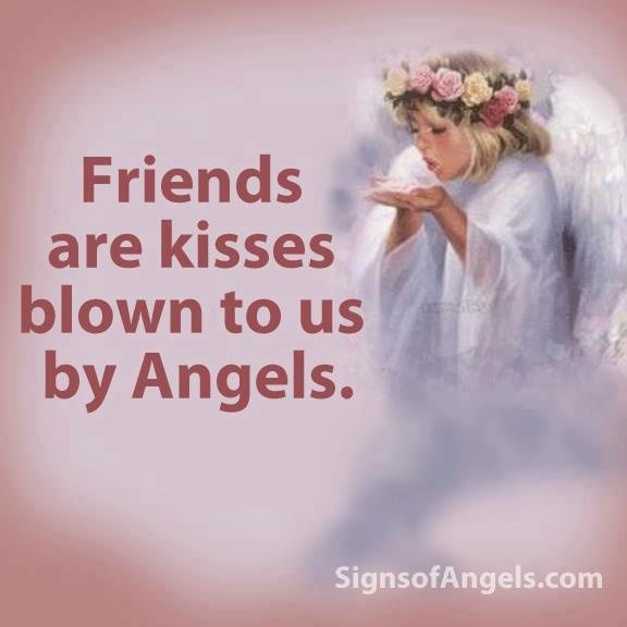 Friend kiss quotes : Friends are angels quotes quotesgram