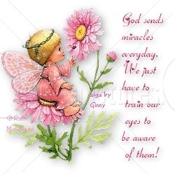 God Sends Miracles Everyday. We Just Have To Train Our Eyes To Be Aware Of Them.