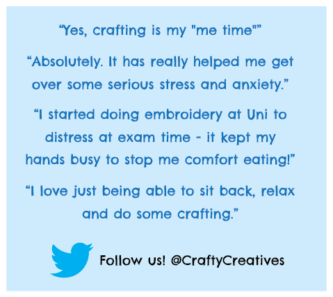 """I Love Just Being Able To Sit Back, Relax And Do Some Crafting."""