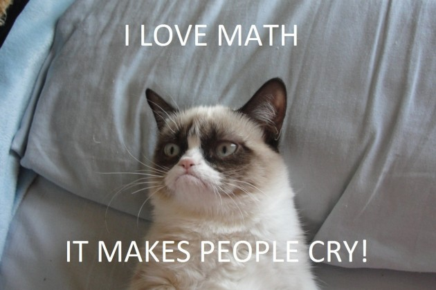 I Love Math, It Makes People Cry. ~ Cat Quotes