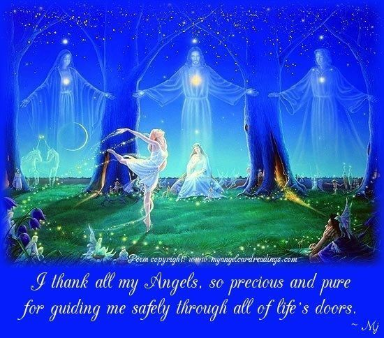 I Thank All My Angels, So Precious And Pure For Guiding Me Safety Through All Of Life's Doors.