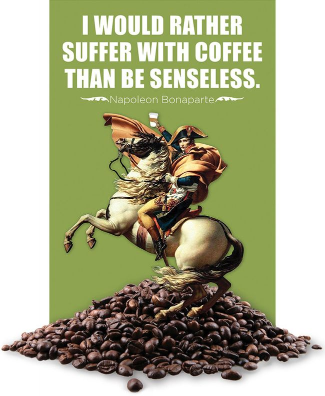 I Would Rather Suffer With Coffee Than Be Senseless. - Napoleon Bonaparte