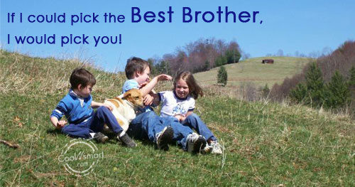If I Could Pick The Best Brother. I Would Pick You.