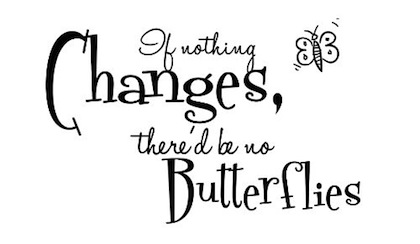 If Nothing Changes, There'd Be No Butterflies.