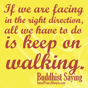 If We Are Facing In The Right Direction, All We Have To Do Is Keep On Walking. ~ Buddhist Quotes