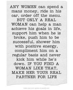 If You Find A Woman Like That, Make Her Your Real Partner For Life