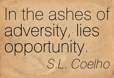 In The Ashes Of Adversity, Lies Opportunity. - S.L. Coelho