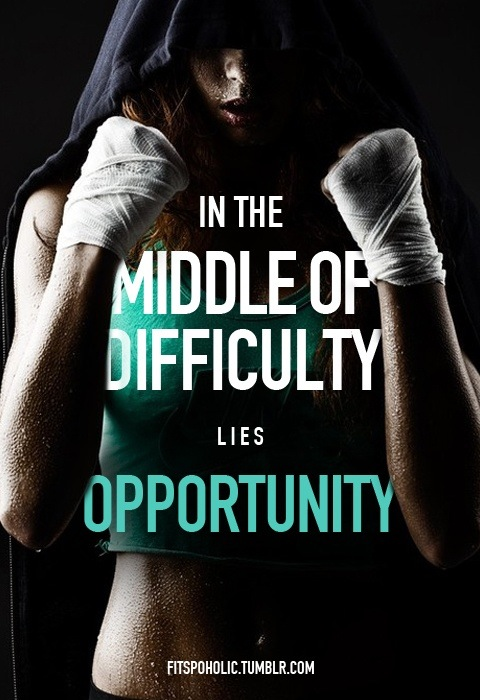 In The Middle Of Difficulty Lies Opportunity. Bruno Frank ~ Boxing Quotes